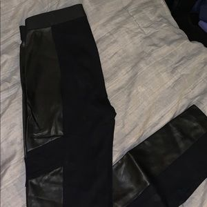 Like new Bcbgmaxazria black fashion leggings